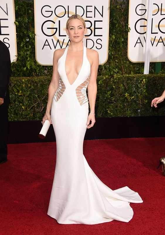 BEVERLY HILLS, CA - JANUARY 11: Actress Kate Hudson attends the 72nd Annual Golden Globe Awards at The Beverly Hilton Hotel on January 11, 2015 in Beverly Hills, California.   Jason Merritt/Getty Images/AFP== FOR NEWSPAPERS, INTERNET, TELCOS & TELEVISION USE ONLY ==