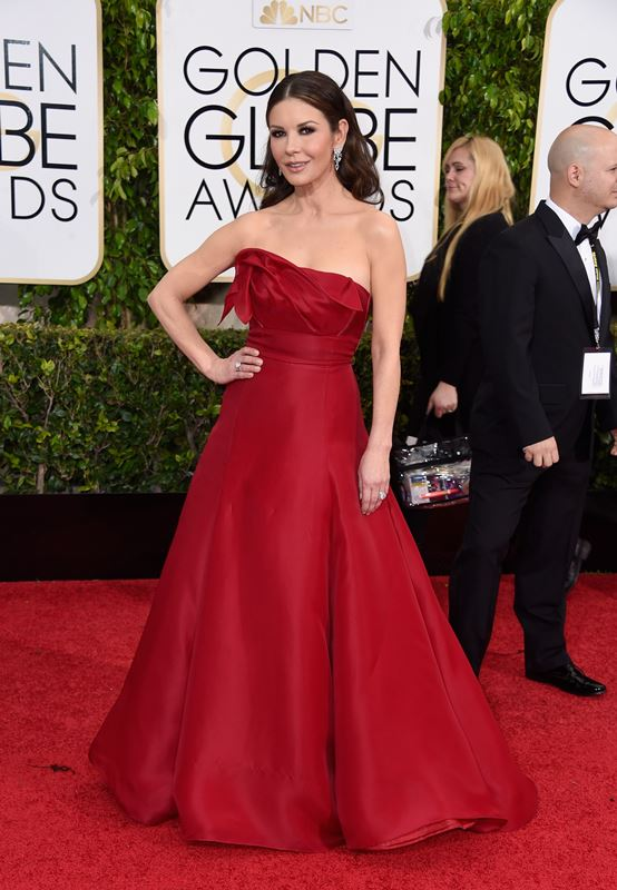 BEVERLY HILLS, CA - JANUARY 11: Actress Catherine Zeta-Jones attends the 72nd Annual Golden Globe Awards at The Beverly Hilton Hotel on January 11, 2015 in Beverly Hills, California.   Frazer Harrison/Getty Images/AFP == FOR NEWSPAPERS, INTERNET, TELCOS & TELEVISION USE ONLY ==