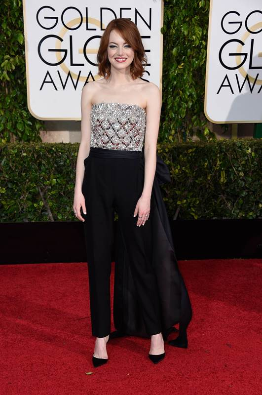BEVERLY HILLS, CA - JANUARY 11: Actress Emma Stone attends the 72nd Annual Golden Globe Awards at The Beverly Hilton Hotel on January 11, 2015 in Beverly Hills, California.   Frazer Harrison/Getty Images/AFP== FOR NEWSPAPERS, INTERNET, TELCOS & TELEVISION USE ONLY ==